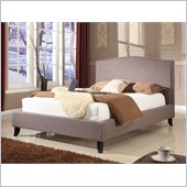 Modus Furniture Elise Camelback Panel Bed in Fog Linen