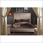 Modus Furniture Ella Panel Bed in Sand Microfiber