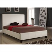 Modus Furniture Mambo Upholstered Panel Bed in Ivory