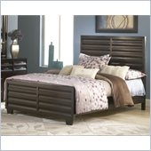 Modus Furniture Contour Panel Bed in Ebony
