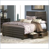 Modus Furniture Contour Two Drawer Storage Bed in Ebony