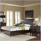 Modus Furniture Legend Wood Four Drawer Storage Bed in Chocolate Brown