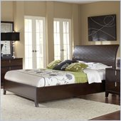 Modus Furniture Legend Wood Platform Bed in Chocolate Brown