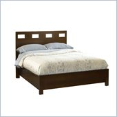 Modus Furniture Veneto Twin Size Platform Bed in Chocolate Brown