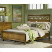 Modus Furniture Trellis Panel Bed in Pecan  