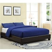 Modus Furniture Ledge Upholstered Platform Bed in Chocolate