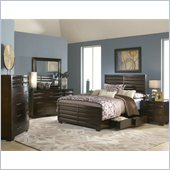 Modus Furniture Contour 5 Piece Bedroom Set in Ebony