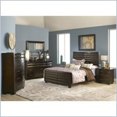 Modus Furniture Contour Storage 4 Piece Bedroom Set in Ebony