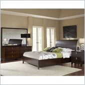 Modus Furniture Legend Wood 4 Piece Storage Bedroom Set in Chocolate Brown