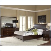 Modus Furniture Legend Wood 5 Piece Storage Bedroom Set in Chocolate Brown
