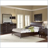 Modus Furniture Legend Wood 4 Piece Bedroom Set in Chocolate Brown