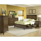 Modus Furniture Paragon Storage 4 Piece Bedroom Set in Truffle