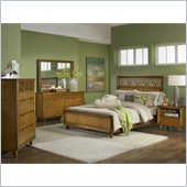 Modus Furniture Trellis 4 Piece Bedroom Set in Pecan