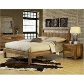 Modus Atria Platform Bed 3 Piece Bedroom Set in Natural Sheesham