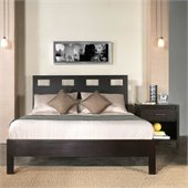 Modus Nevis Riva Profile Platform Bed 3 Piece Bedroom Set in Espresso