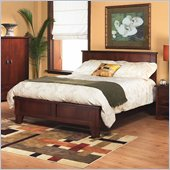 Modus Canyon Tropical Mahogany Low Profile Panel Bed in Saddle Brown