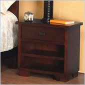 Modus Canyon One Drawer Nightstand in Distressed Saddle Brown