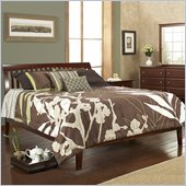 Modus Furniture Newport Tropical Mahogany Modern Platform Bed in Cordovan Finish