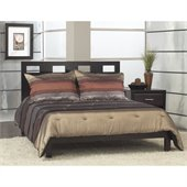 Modus Nevis Riva Modern Low Profile Wood Platform Bed in Espresso