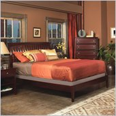 Modus Newport Low Profile Tropical Mahogany Sleigh Bed in Cordovan
