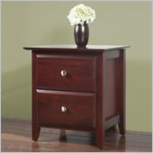 Modus Newport 2 Drawer Nightstand in Cordovan