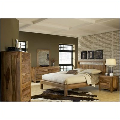 Modus Furniture Atria Platform Bed in Sheesham 6 Piece Bedroom Set