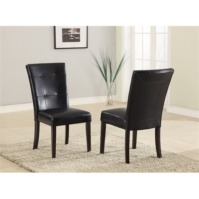 Modus Bossa Black Leatherette Parsons Chair (Set of 2)