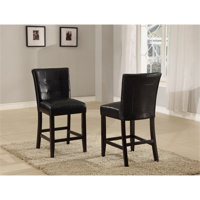 Modus Bossa Counter Height Parsons Stool in Black Leatherette (Set of 2)