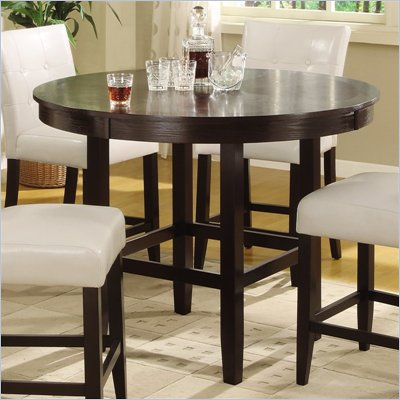 Modus Bossa 54&quot; Round Counter Height Dining Table in Dark Chocolate
