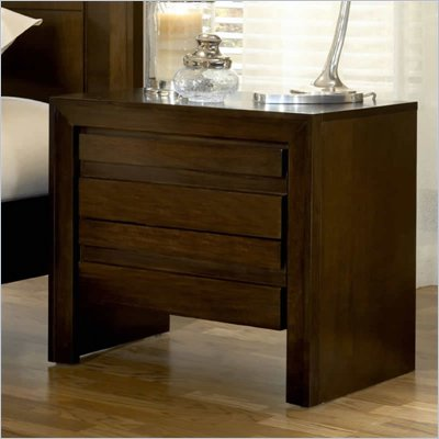 Modus Element Charging Station Nightstand in Chocolate Brown
