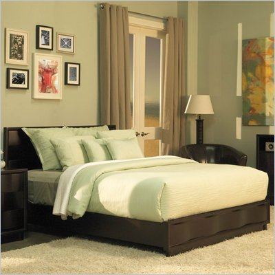 Modus Maui Wave Platform Bed in Chocolate Brown