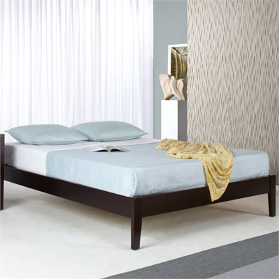 Modus Nevis Simple Platform Bed in Espresso