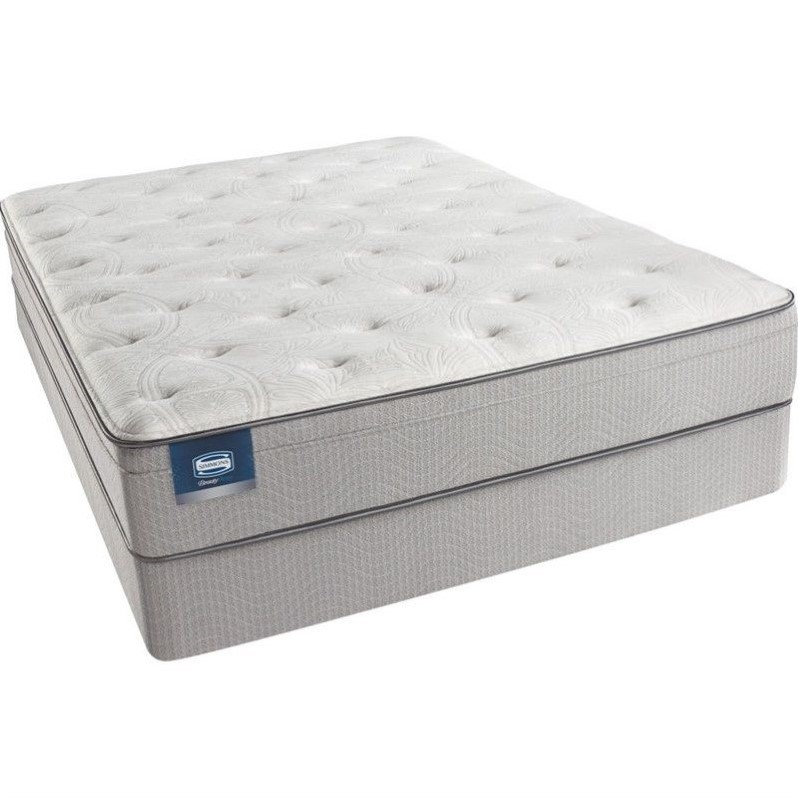 BeautySleep Adeline Pl Plush Euro Top Mattress Set-Split Queen / Standard