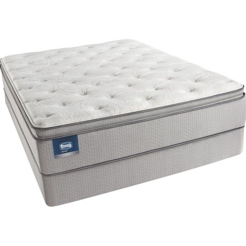 BeautySleep Adrian Ave Luxury Firm Pillow Top Mattress Set-Split Queen / Standard