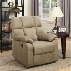 Lifestyle Solutions Brunswick Relax-A-Lounger Recliner in Beige