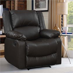 Lifestyle Solutions Estes Relax-A-Lounger Faux Leather Recliner