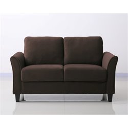 Lifestyle Solutions New Haven Loveseat in Coffee