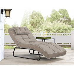 Relax-A-Lounger Naples Pool and Deck Convertible Chaise in Light Brown