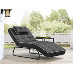Relax-A-Lounger Naples Pool and Deck Convertible Chaise in Dark Gray