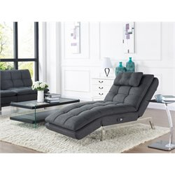 Relax-A-Lounger Hermes Convertible Chaise Lounge in Charcoal Grey