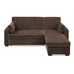 Lifestyle Solutions Laurel Convertible Sectional in Java
