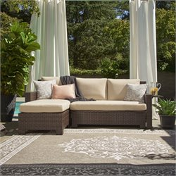 Relaxalounger Maile Outdoor Sectional Sofa Set in Khaki