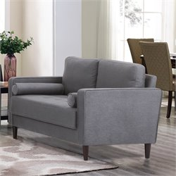 Lifestyle Solutions Jareth Loveseat in Heather Gray
