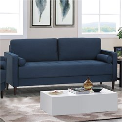 Lifestyle Solutions Jareth Sofa in Navy Blue