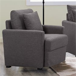 Lifestyle Solutions Arcade Accent Chair in Dark Gray