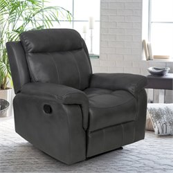 Relaxalounger Chasina Leather Recliner in Dark Gray