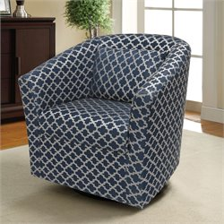 Lifestyle Solutions Dagger Upholstered Swivel Accent Chair