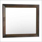 Lifestyle Solutions Hailey Wall Mirror in Antique Walnut
