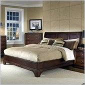 Lifestyle Solutions Hampton Queen Platform Bed in Antique Walnut