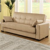 Lifestyle Solutions Napa Casual Convertible Sofa in Beech